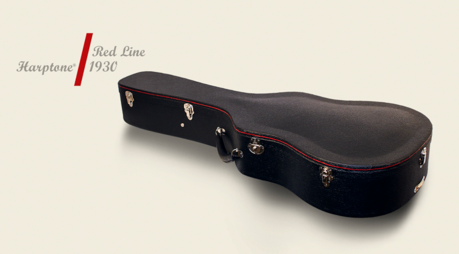 Harptone Redline Parlor or 0 Case Black with Red Purfling, Brand New, $695.00
