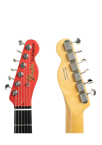 2019 Fender Two-Tone Thinline Telecaster Fiesta Red