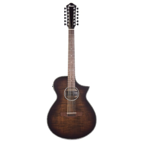 Ibanez AEWC Acoustic 12-String High Gloss Tiger Burst