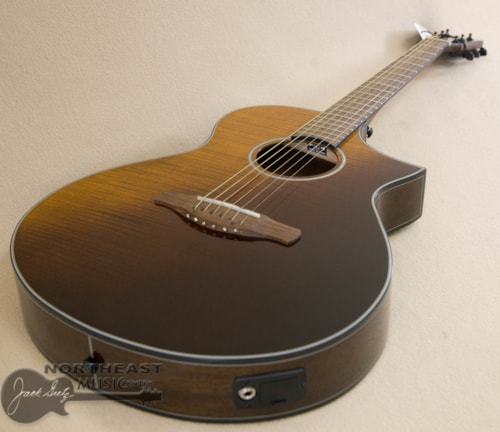 Ibanez AEWC32FM Acoustic Electric Guitar - Amber Sunset Fade