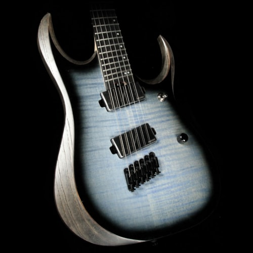 Ibanez Iron Label RGDIM6FM Electric Guitar Cerulean Blue Burst Flat Brand New