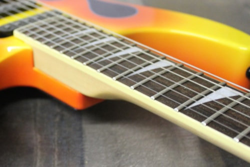 2004 Jackson Dinky II  Blue with Orange Flames Pinstripe