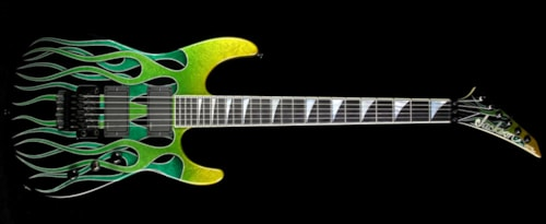 Jackson 2008 Jackson Custom Shop USA Select Dinky Electric Guitar Green Marble Flame Green Marble Flame, Excellent, $2,399.00