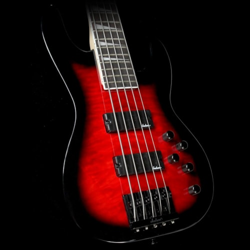 Jackson JS3VQ Concert 5-String Bass Transparent Red Burst Excellent, $299.00