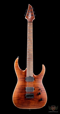 Jackson Signature Misha Mansoor Juggernaut HT6FM, Caramelized Flame Maple FB - Satin Amber Tiger Eye