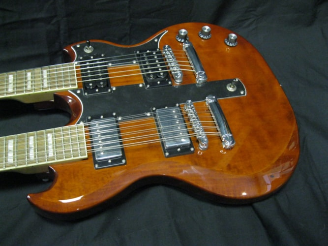 JAY TURSER SG Double Neck 6 & 12 String Electr Walnut, Brand New, Original Hard, $695.00