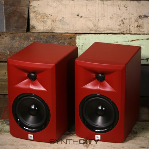 JBL LSR305MR Series 3 Powered Monitor Pair - Red Excellent, $249.00