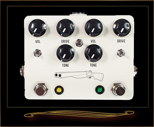 JHS Double Barrel V3 Dual Overdrive Pedal White, Brand New, $315.00