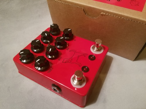JHS Pedals The Calhoun V2 Fuzz/Overdrive Red, Excellent, Original Hard