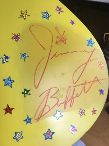 Jimmy Buffett signed acoustic SAMICK Guitar