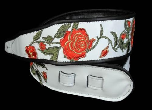 "Jodi Head Stella ""White Rose"" Guitar Strap"