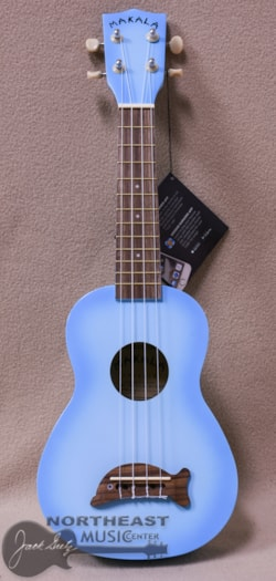 KALA Ma Dolphin Soprano Ukulele in Light Blue Burst