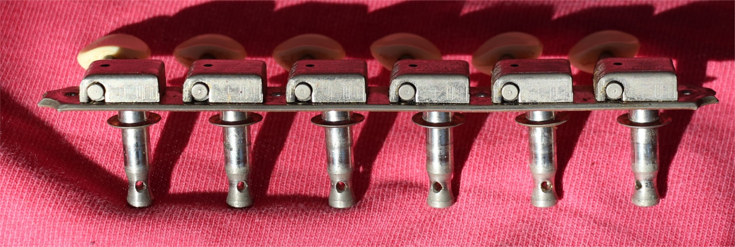 Kluson Deluxe 6 on a plate with bushings Excellent, $174.95