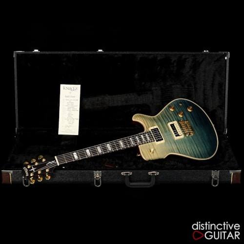 Knaggs Kenai-Doug Rappoport Teal Fade Flame, Brand New, Original Hard