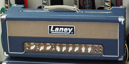 Laney L50H Blue NOS Trade Show Demonstrator Video Demo