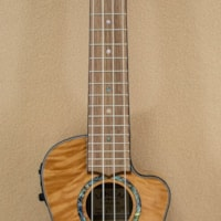 LANIKAI Quilted Maple Natural Cutaway Acoustic Electric Concert Ukulele with Padded Gigbag