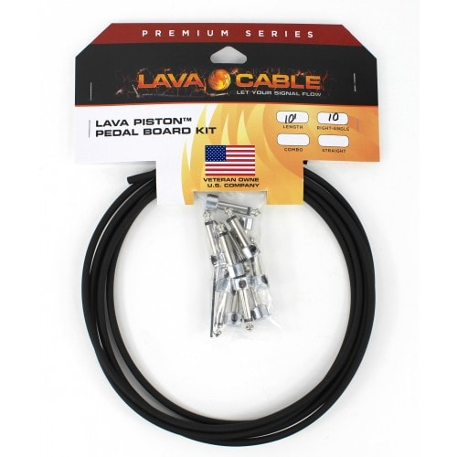 Lava Cable Piston Solder-Free Pedal Board Kit with Right Angle Plugs Black, Brand New