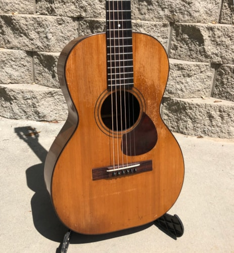 Leo master flat top 12 fret guitar - possibly Paramount or Larson brothers made