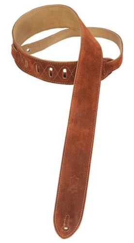 "Levy's MS12-BRN 2"" Suede Strap Brown, Brand New"