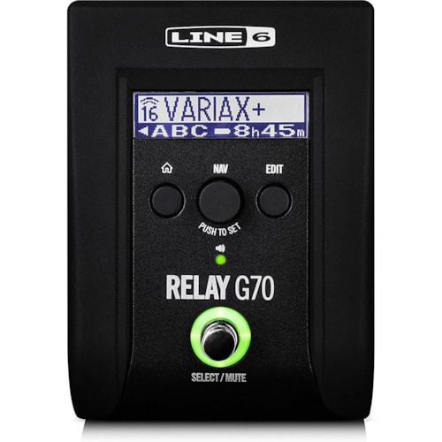 Line 6 Relay G70 Wireless Guitar Stomp, 16-Channel