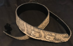 Long Hollow Leather Snake Skin Strap