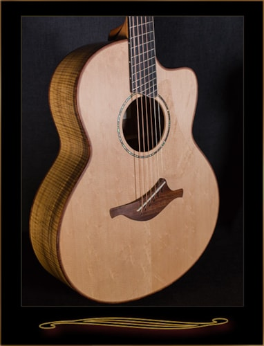 Lowden FMcFF Fan Fret in Myrtle with Cutaway and Electronics Brand New, Original Hard, $8,725.00