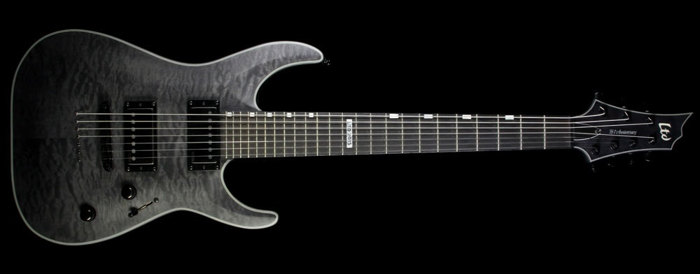 2015 ESP Used 2015 ESP LTD 40th Anniversary Limited Edition Horizon H7 Seven-String Electric Guitar Transparent Satin Black