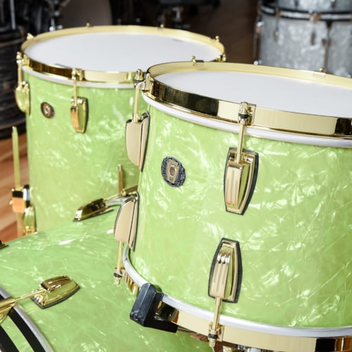 Ludwig 110th Anniversary Classic Maple 13/16/22 3pc. Drum Kit Emerald Pearl w/Brass Hdw USED
