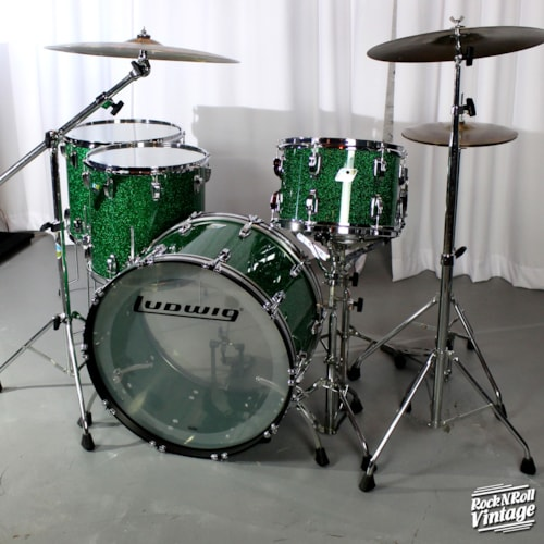 Ludwig 45th Anniversary Green Sparkle Vistalite Kit Brand New $3,200.00