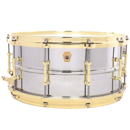 Ludwig 6.5x14 Chrome Over Brass Snare Drum w/ Polished Brass Hardware