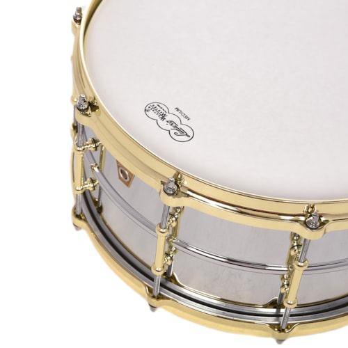 Ludwig 6.5x14 Chrome Over Brass Snare Drum w/Tube Lugs & Brass Hdw B-Stock
