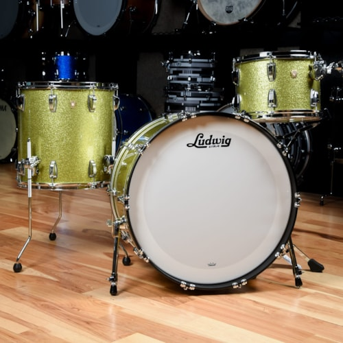 Ludwig Classic Maple 13/16/24 3pc. Drum Kit Olive Sparkle