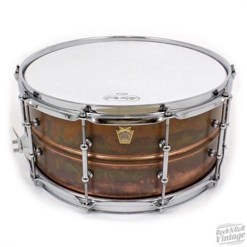 Ludwig Raw Copper Phonic Tube Lug Snare Drum Brand New $649.00