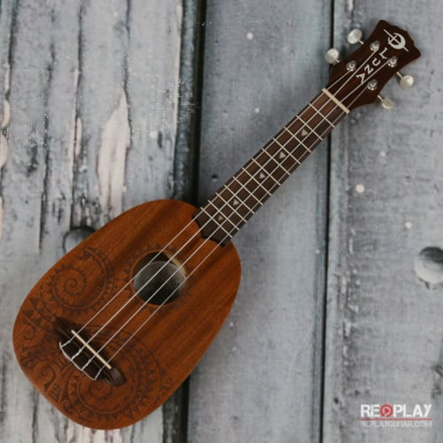 Used Luna Uke Tatoo Pineapple Mahogany