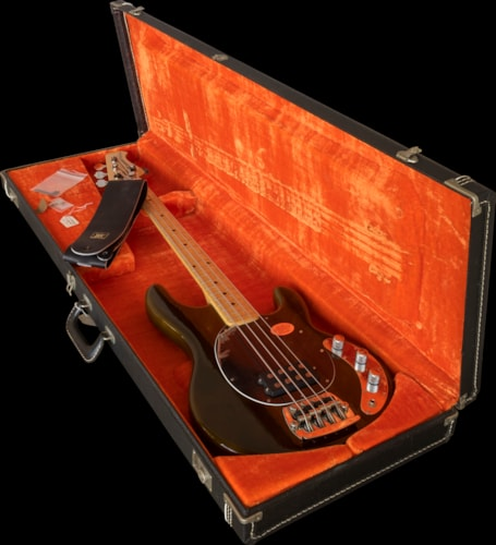 1977 music man sting ray bass collector alert new old stock walnut finish on ash guitars. Black Bedroom Furniture Sets. Home Design Ideas