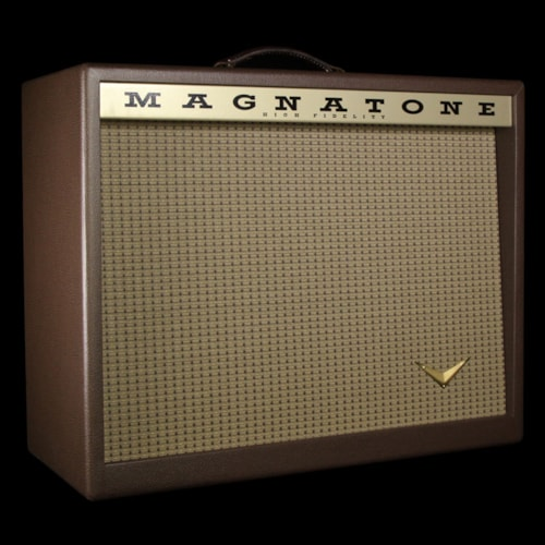 """Magnatone Traditional Collection 1x12"""" Electric Guitar Amplifier Cabinet Brown"""