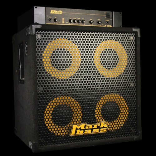 """Markbass Used Markbass R500 500W Bass Amp Head and 104HR 4x10"""" Cabinet"""