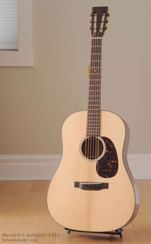 Martin D-1 Authentic 1931 Brand New, Original Hard, Call For Price!