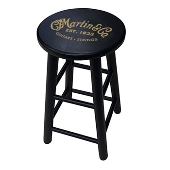 Martin Martin Wooden Player's Stool in Black with Gold Logo