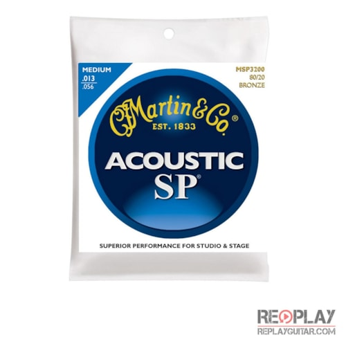 Martin MSP3200 SP 80/20 Bronze Medium Acoustic Guitar Strings Brand New $5.49