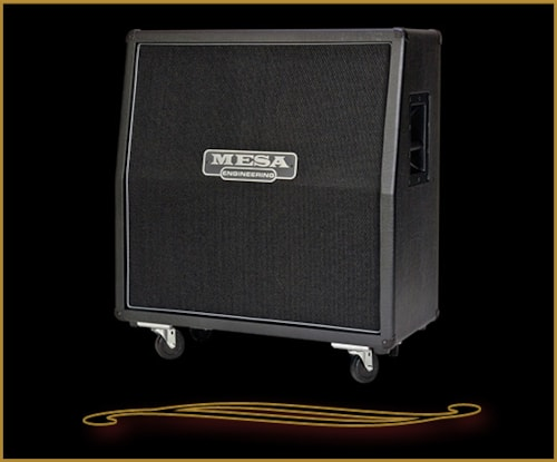 Mesa Boogie 4X12 Recto Traditional Slant Cabinet w/ Celestion Creambacks Black Taurus, Brand New