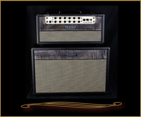Mesa Boogie Lone Star™ Head and 212 Cabinet Private Reserve Charcoal Flame Maple, Brand New