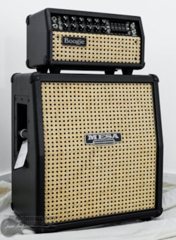Mesa Boogie Mark V: 25 Head w/ Matching Mini Recto 1x12 Cabinet - Black w/ Wicker Grille