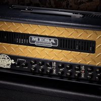 Mesa/Boogie Mesa Boogie 50th Anniversary Limited Edition Triple Rectifier - Black with Gold Diamond Plate