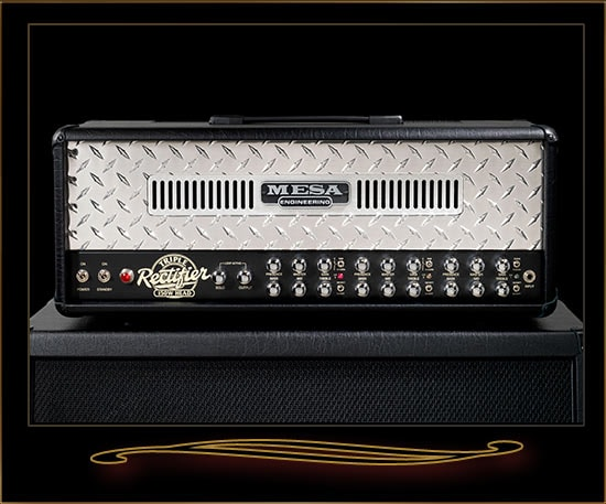 Mesa Boogie Triple Rectifier Head Black with Diamondplate, Brand New