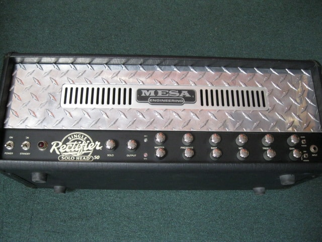 Mesa Engineering Single Rectifier Solo Head 50 Black/Silver, Excellent, Call For Price!