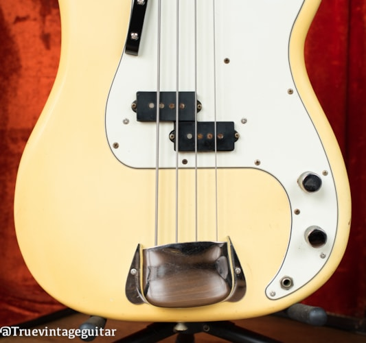Narrow Nut 1976 Fender Precision Bass Olympic White