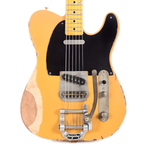 Nash T-52 Butterscotch Blonde Heavy Relic w/Bigsby, 1-Ply Black Pickguard, & Lollar Pickups (Serial #CHI428)