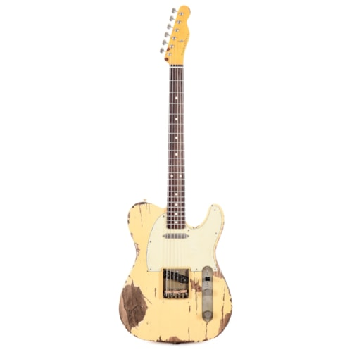 Nash T-63 Ash Cream Extra Heavy Relic w/Lollar Pickups & 3-Ply Mint Pickguard (Serial #NG5237)