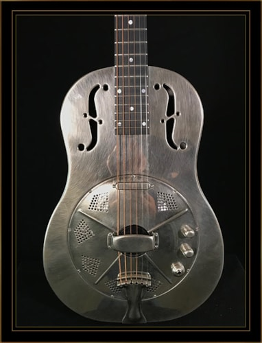 National Reso-Phonic NRP Steel Single-Cone 12-Fret Resonator with Hot-Plate Excellent, Original Hard, $2,395.00